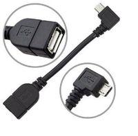 Ángulo recto L en forma de micro USB 2.0 a OTG Host Cable adaptador universal para Asus Google Nexus AndroidTablet PC Galaxy nota 2 3 S3 S2