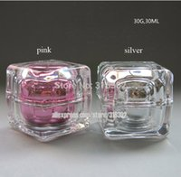 acrylic glass jar cosmetic - 200 G Acrylic Cream Jar Cosmetic Jar Acrylic Bottle with Double wall Diamond Shape Crystal Cream Bottle