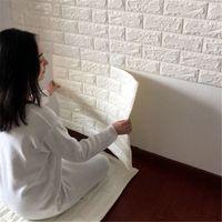 Wholesale D Brick Pattern Wallpaper self adhesive wallpaper Bedroom Living Room Modern Wall Background TV waterproof WH0086