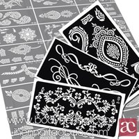 Wholesale set Henna Templates Stickers Glitter Tattoo Stencils Designs for Tattoos Temporary Drawing for Painting