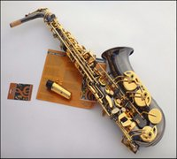 Wholesale France Selmer E flat Alto Saxophone professional sax black nickel gold mouthpiece Top Musical Instruments