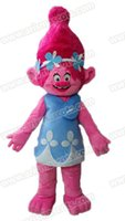 Wholesale AM0386 New Trolls character Poppy mascot costume Troll fancy dress party costumes fur mascot