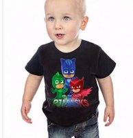 Wholesale 2015 Summer Cartoon Masks T Shirt Tops Tee Children Clothing baby boys T Shirts PJ Girls Short Sleeve O neck T Shirt
