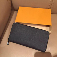 Wholesale High quality Fashion designer clutch famous brand clutch water ripple wallet with box dust bag