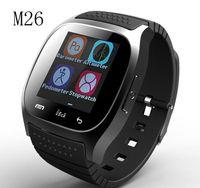 Wholesale 2016 Bluetooth Smart Watches M26 for IOS iPhone S Android Samsung S6 S7 Edge Barometer Alitmeter Music Player Pedometer PK U8 DZ09