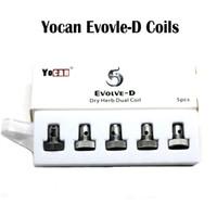 Yocan Evolve-D bobina de cuarzo bobina de reemplazo de bobinas QDC para Yocan Evolve kit NYX seca hierba vaporizador pluma vs Yocan Evolve Plus