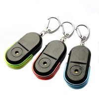 Wholesale PC Mini New Wireless Anti Lost Alarm Key Finder Locator Keychain Whistle Sound LED Light VHD24 P72