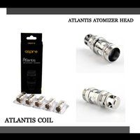 Precio de Atlantis v2 bobinas-La alta calidad Aspire Atlantis bobina Aspire sub bobina del ohmio para Aspire Atlantis V1 V2 Clearomizers envío libre de DHL