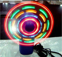 bathrooms fans - Colorful mini light emitting fan LED flash student fan battery wireless fan