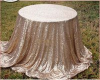 Wholesale Christmas New Year s banquet reception decorated with desktop sequins cloth wedding tablecloths decorative multicolor optional