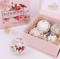 Wholesale Natural sea salt oil bath ball suits Lavender flower ball bubble bath salt Embellish skin care Clean the skin