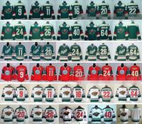 Minnesota série Wild Stadium Hockey sur glace Maillots 9 Mikko Koivu 11 Zach Parise 16 Jason Zucker 22 Nino Niederreiter 40 Devan Dubnyk 64 Mikael