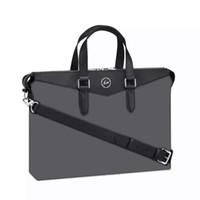 bag cowhides - black flower cowhide real genuine leather mens shoulder bag business briefcase EXPLORER M40566 case handbag laptop bag N41507 N4