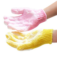 Wholesale 5pcs Bathroom Accessory Bathwater Scrubbing Bath Exfoliating Gloves for Shower