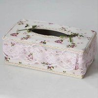 Wholesale Napkin Box Hot Sale Pastoral Purple Plastic Napkin Carton Car Paper Box