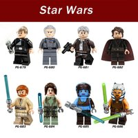 Wholesale 8pcs set PG8034 Star Wars Satelle Shan Moff Tarkin Jedi Knight Ahsoka Tano Building Blocks Models Bricks Toys