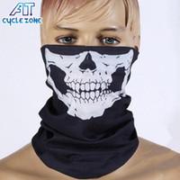 Precio de Cráneo del sombrero del esquí-Halloween Cosplay cráneo esqueleto media máscara de la motocicleta Multi Función Headwear sombrero de la bufanda cuello cara deportiva esquí de invierno CS máscara