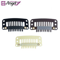 Wholesale GH Angel mm teeth Hair Extension Clips Snap Metal Clips With Silicone Back For Clip in Human Hair Extensions Wig Comb Clips