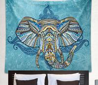 Wholesale Drop Shipping Indian Elephant Tapestry Boho Wall Hanging Tapestries Mandala Beach Throw Towel Yoga Mat Gypsy Bedspread cm TY003