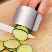 Wholesale Stainless Steel Finger Protector Finger Guard Cutting Safety Guard Kitchen Cooking Tools Utensils Gadget Kitchen Accessories