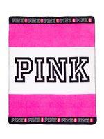 Acheter Corail rose-2017 NOUVEAU VS love Pink Blanket sur couvre-lits couvertures pour le canapé / air / literie Coral Fleece Travel Flannel 130 * 150cm