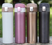 Wholesale Stainless Steel Home Kitchen Vacuum Flasks Bottle Thermoses ml Insulated Thermos Cup Office Coffee Mug Travel Drinking Water Bottle