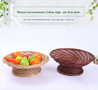 Clothing beverage packing - Natural Environmental Protection Pure Manual Willowerwork High Foot Compote Linyi Willowerwork Fruits Vegetables Basket Gift Packing Basket