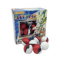 Wholesale 36Pcs PokeBall ABS Classic Action Anime Figures Poke Balls Fairy Ball Super Ball Master Ball Kids Toys Gift with Retail Package
