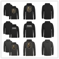 blank hoodie - Youth Kids Newest Team Vegas Golden Knights Pullover Hoodie Sweatshirts Blank Hockey Hoodie All Stitched And Embroidery Logos