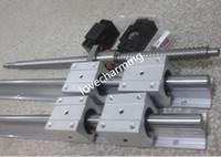 ballscrew bearing - 2pcs SBR20 mm linear rail guide sets set ballscrew RM1605 mm set BK BF12 end bearing coupler