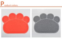 Wholesale DHL Best selling pad pet foot shaped pvc placemat cheap price mat