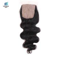 Cheap 4x4 virgin lace silk base closure straight Loose body wave deep curly Yaki brazilian remy human hair unprocessed brazilian virgin hair