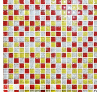 Wholesale 2017 hot sale mosaic Crystal ice crack mosaic background wall small particles three color mixed fight bathroom bar tiles