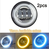 Wholesale 2x quot LED Front Fog Lamp Harley Headlamp Waterproof dustproof anti explosion