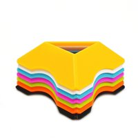 Wholesale Set Colorful High Quality Compact Plastic Speed Magic Cubes Base Holder Frame Baby Kids Early Learning Toys Game Gifts