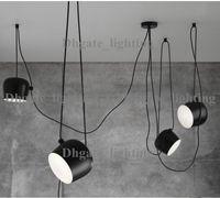 Wholesale LED Lights Aluminium Flos Aim White Black E27 Pendant Lamp Lights LED Bulb Grow Lights Bar Living Room Droplight Lighting Chandelier