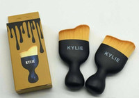 Wholesale 2017 HOT Kylie Brushes for Makeup sets Blush toothbrush Cosmetic Foundation BB Cream Powder Tools Black gold box kylie jenner brush