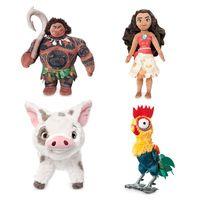 Wholesale Moana Plush Toys Kawaii Princess Moana Maui Heihei Plush Stuffed Toy Cartoon Moana Adventure Doll Toy Gift For Children