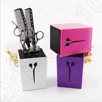 barber beauty - Scissors Shear Comb Holder Holster Hair Styling Tool Salon Barber Socket Stander Beauty Tool Storage Box OOA995
