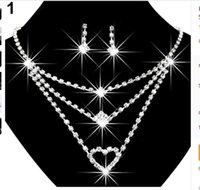 ans wear - Sparkle Bridal Accessories for Women Rhinestone Bling Bridal Jewelry High Quality Nacklace ans Earring for Prom Party Wear