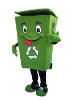 Wholesale Recycle trash can mascot costume adult size waste ash bin garbage can anime costumes advertising mascotte fancy dress kits LLFA