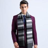 Grossiste-2016 Fashion hiver Collier Echarpes Coton longue écharpe rayée Echarpes Infinity pour hommes Shawl Designer Echarpe