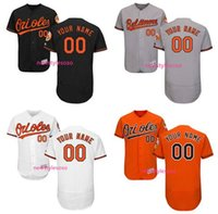 Men baltimore orioles orange - Personalized Men s Baltimore Orioles Orange Black Grey white Flex Base Custom Any name and number Collection stitched Jersey