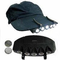 Wholesale LED Clip On Clip Hat Cap Lamp Caplight Fishing Light Outdoor Camping Lamp Headlamp