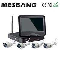 Wholesale Home Wireless Wifi IP Security Camera System Kit inch Monitor Build in TB HDD Hard Disk