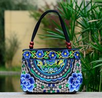 beautiful embroidery patterns - New Design Women Canvas Handbags lady Canvas handbags Fashion Embroidery Special Beautiful Flower Design Pattern