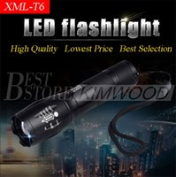 Wholesale G700 E17 CREE XML T6 Lumens High Power LED Torches Zoomable Tactical LED Flashlights torch light for xAAA or x18650 battery