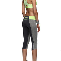 activewear capri - Women Sexy Zipper Pocket Leggings Fitness Capri Pants Reflective Leggins Slim Women s Workout Trousers Quick dry Activewear
