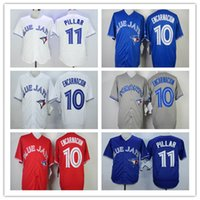 Wholesale high quality Toronto Blue Jays mens baseball Jersey Edwin Encarnacion color bule red white gary