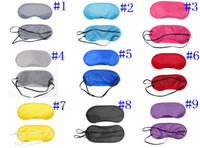 Wholesale Whoelsale Travel Rest Shade Nap Cover Blindfold Sleeping Mask game mask Colors C702
